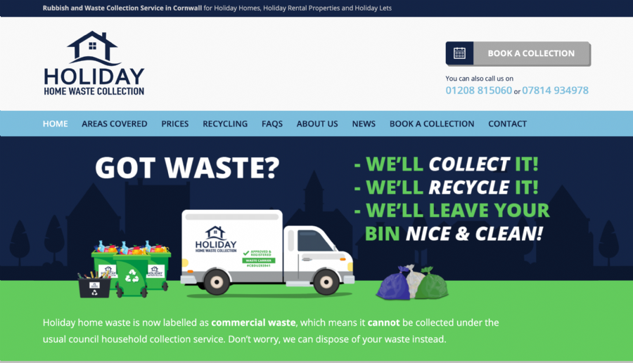 New Website for Holiday Home Waste Collections