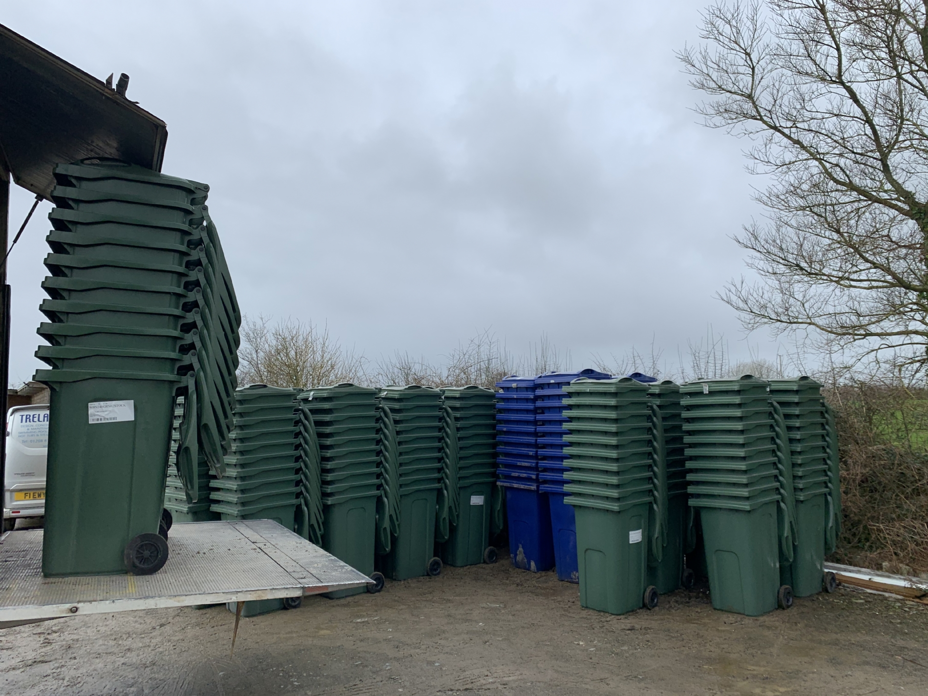 1000 new recycling wheelie bins for Cornish Holiday Homes